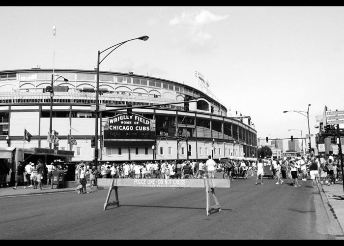 Wrigley Field Greeting Card featuring the photograph Wrigley Field by Courtney Lively