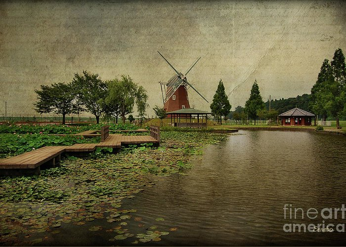 Windmill Greeting Card featuring the photograph Write Me A Story by Eena Bo