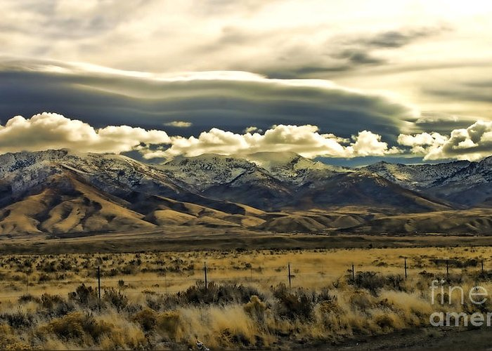 Wyoming Greeting Card featuring the photograph Wyoming Ix by Chuck Kuhn