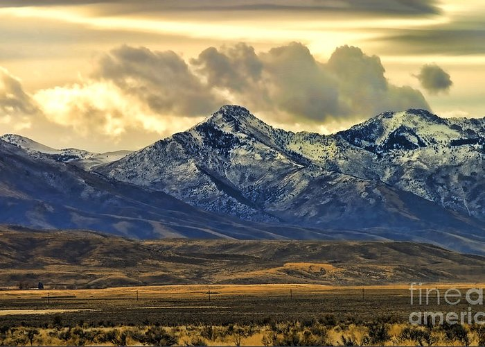 Wyoming Greeting Card featuring the photograph Wyoming Vii by Chuck Kuhn