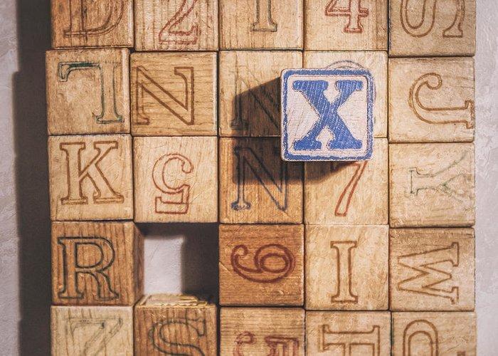 Wooden Alphabet Blocks Greeting Cards