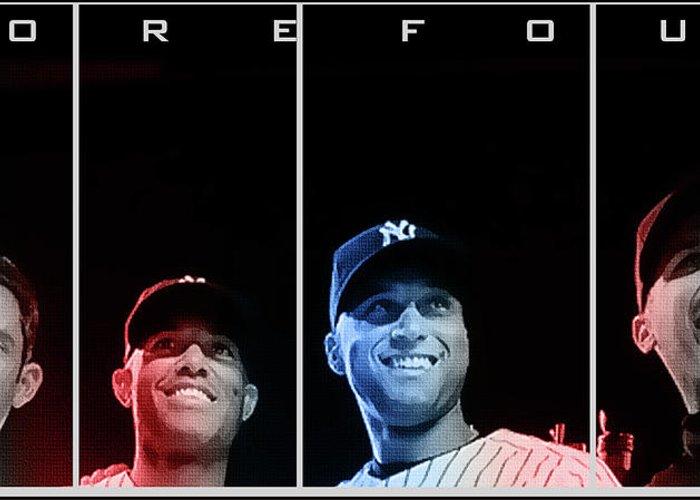 New York Yankees Digital Art Greeting Cards