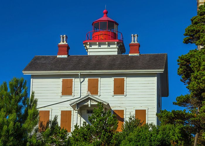 Yaquina Bay Lighthouse Greeting Cards