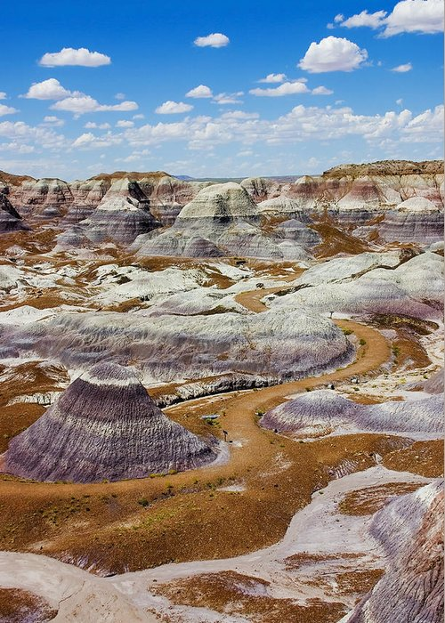 Painted Desert Greeting Card featuring the photograph Yea Though I Walk by Skip Hunt