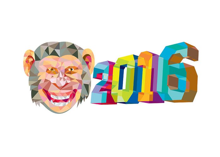 Year Of The Monkey Greeting Cards