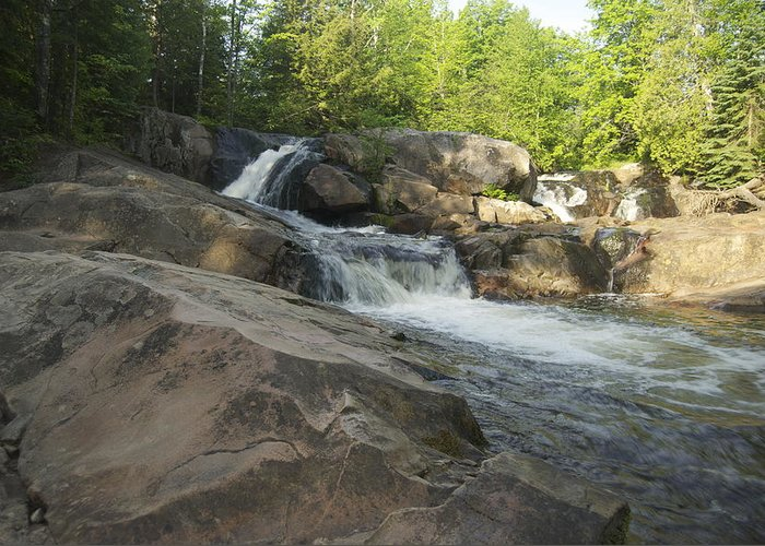 Yellow Dog Falls Greeting Card featuring the photograph Yellow Dog Falls 2 by Michael Peychich