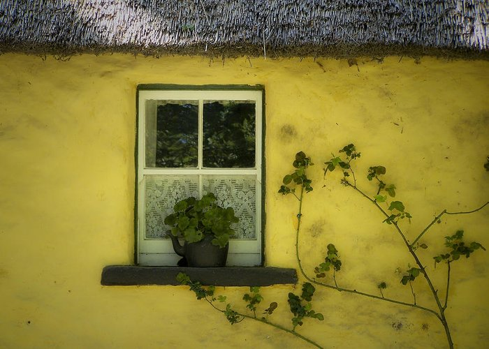 Irish Greeting Card featuring the photograph Yellow House County Clare Ireland by Teresa Mucha