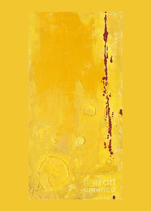 Mixed Media Greeting Card featuring the mixed media Yellow by Jaime Becker
