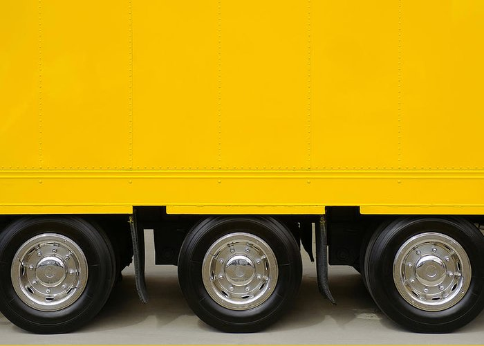Advertising Greeting Card featuring the photograph Yellow Truck by Carlos Caetano
