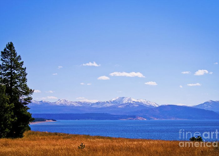 Yellowstone Greeting Card featuring the photograph Yellowstone Lake by Brent Parks