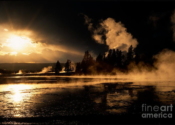 Yellowstone Greeting Card featuring the photograph Yellowstone River Sunrise by Sandra Bronstein