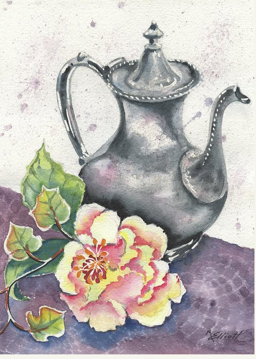 Vintage Greeting Card featuring the painting Yesterdays Gone by Marsha Elliott