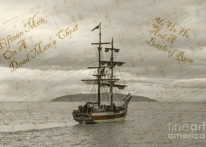 Yo Ho Ho And A Bottle Of Rum Photographs Greeting Cards