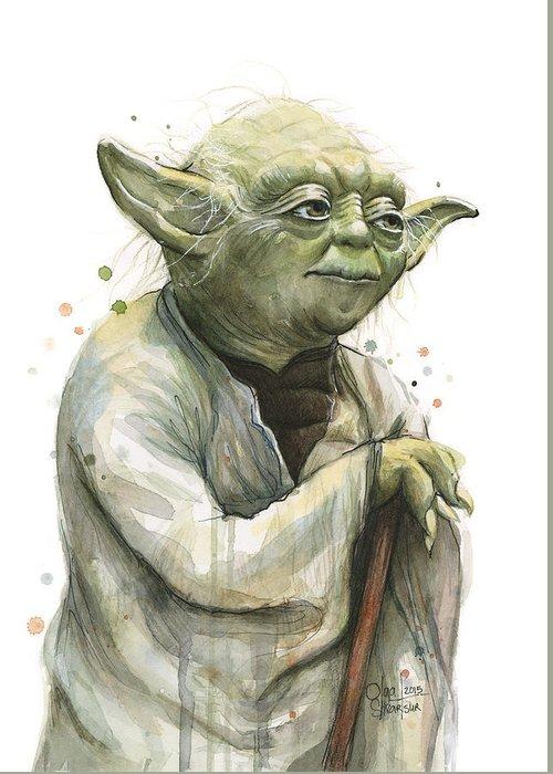 Yoda Greeting Cards