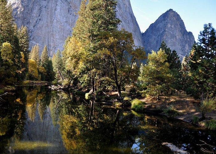 Yosemite Greeting Card featuring the photograph Yosemite Reflections 3 by Vijay Sharon Govender