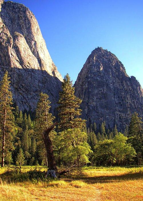 Yosemite Greeting Card featuring the photograph Yosemite Valley Pinnacle - California by Glenn McCarthy Art and Photography