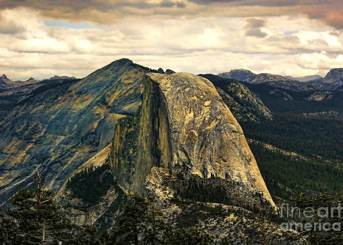 Yosemite Greeting Card featuring the photograph Yosemite X by Chuck Kuhn