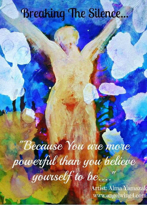 Motivational Greeting Card featuring the photograph You Are Powerful by Alma Yamazaki