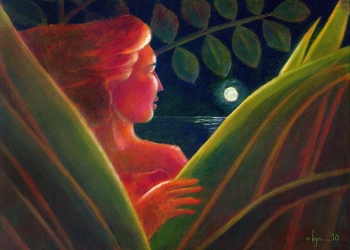 Light Greeting Card featuring the painting You Are The Light Of My Life by Angela Treat Lyon