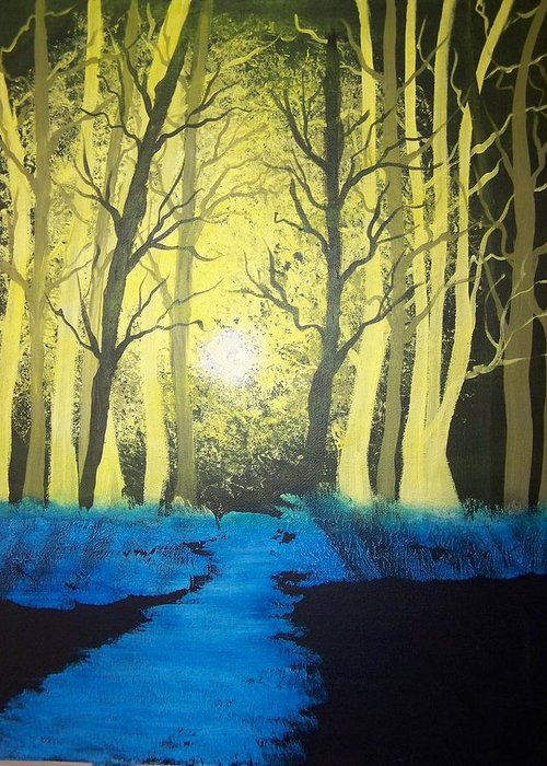 Forest Greeting Card featuring the painting You Cant See The Forest For The Trees by Laurie Kidd