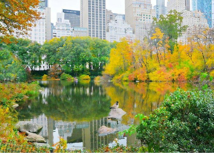 Central Park Greeting Card featuring the photograph You Make Me Feel Brand New by Diana Angstadt