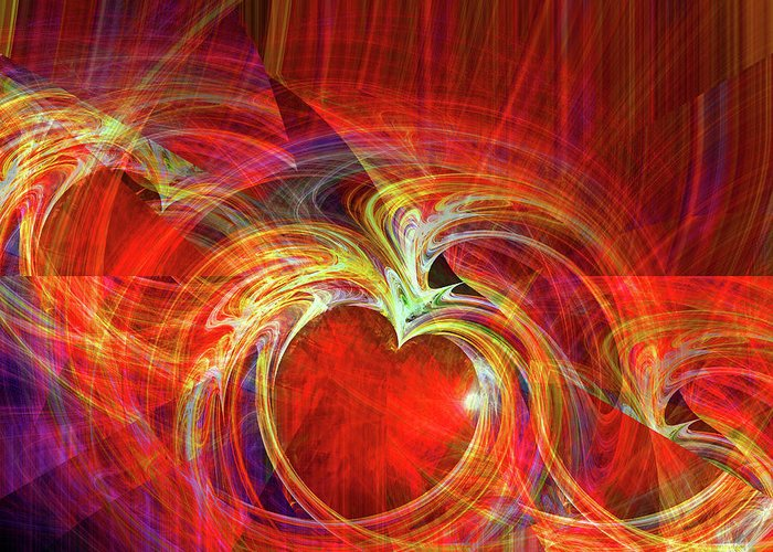 Digital Greeting Card featuring the digital art You Make Me Feel Whole by Michael Durst