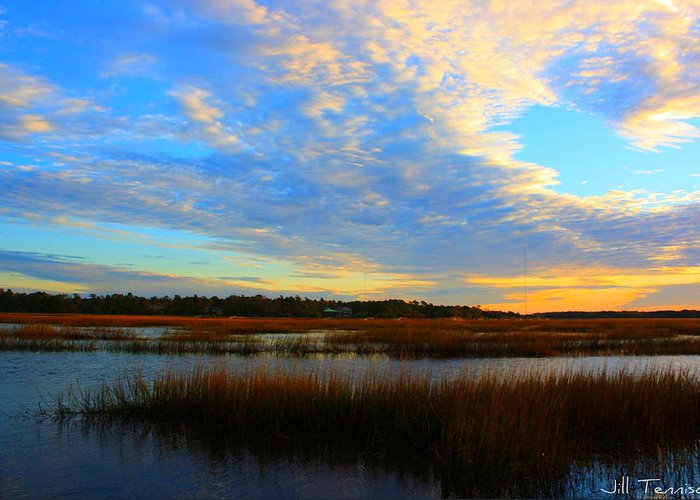 Landscape Greeting Card featuring the photograph You Paint The Morning Sky by Jill Tennison