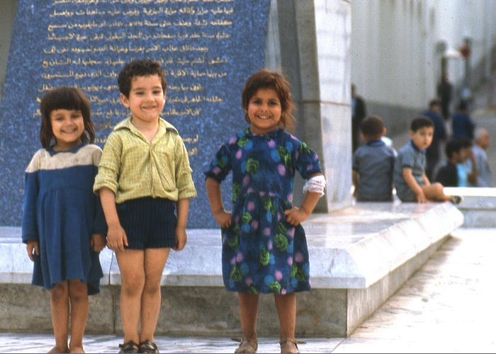 Algeria Greeting Card featuring the photograph Young Algerians 1969 by Erik Falkensteen
