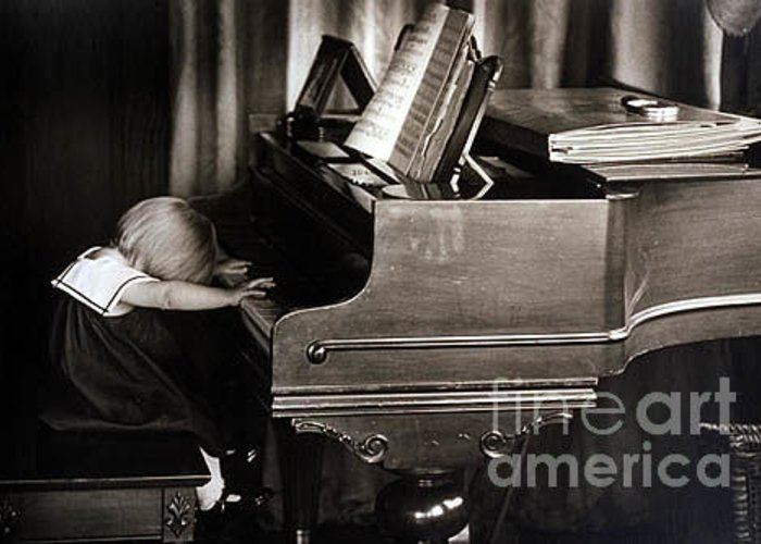 Piano Greeting Card featuring the photograph Young Beethoven by Michael Ziegler