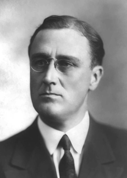 Franklin Roosevelt Greeting Card featuring the painting Young Franklin Delano Roosevelt by War Is Hell Store
