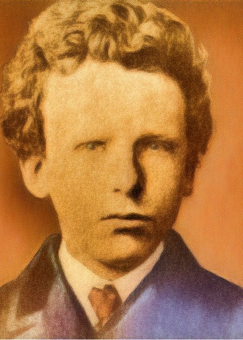 Young Vincent Van Gogh Greeting Card for