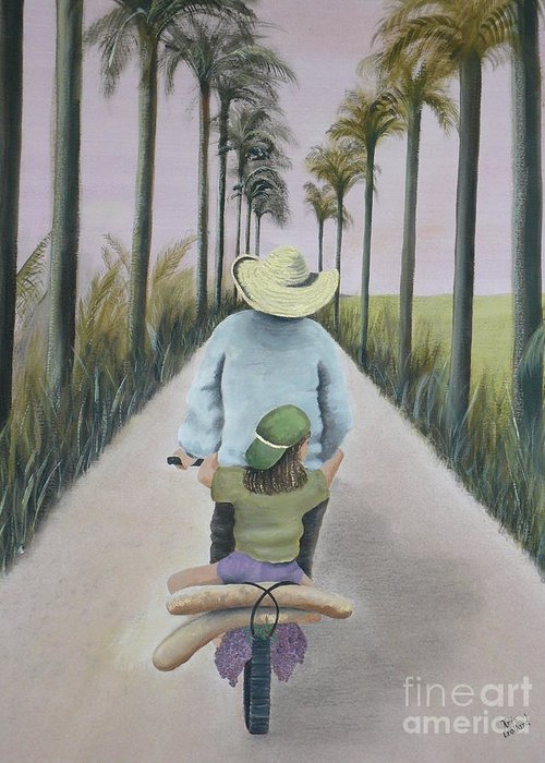 Tropical Greeting Card featuring the painting You're The Best by Kris Crollard