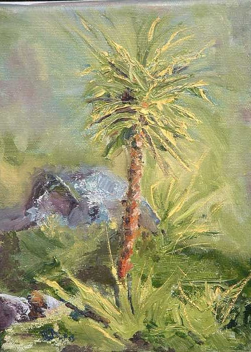 Yucca Greeting Card featuring the painting Yucca by Bryan Alexander