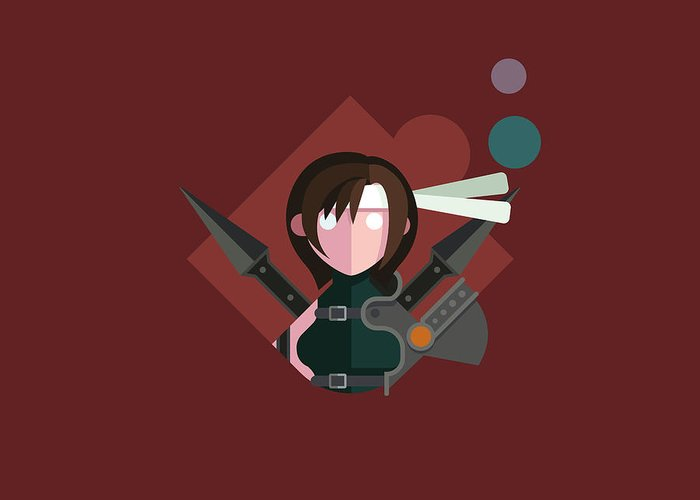 Rpg Greeting Card featuring the digital art Yuffie by Michael Myers