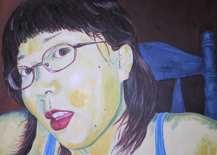 Kevin Callahan Greeting Card featuring the painting Yuka by Kevin Callahan