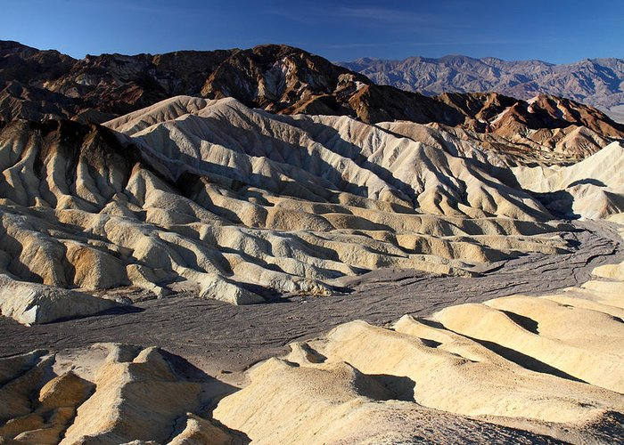 Death Valley Greeting Card featuring the photograph Zabriskie Point In Death Valley by Pierre Leclerc Photography