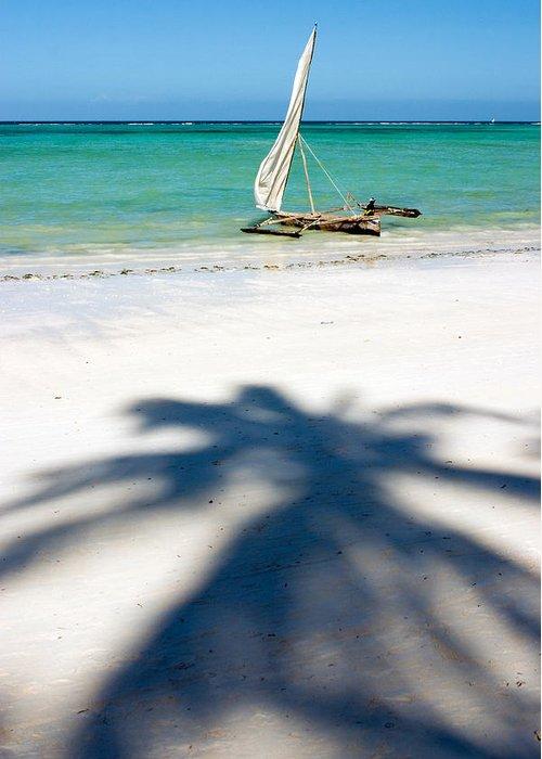 3scape Greeting Card featuring the photograph Zanzibar Beach by Adam Romanowicz