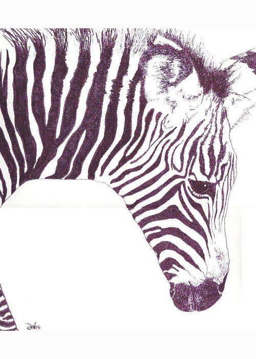 Zebra Greeting Card featuring the painting Zebra Colt by Debra Sandstrom