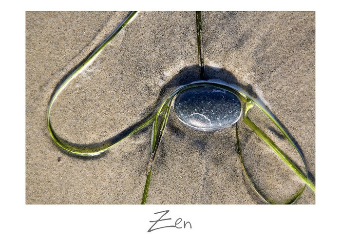 Beach Art Greeting Card featuring the photograph Zen by Peter Tellone