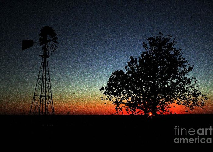 Windmill Greeting Card featuring the photograph Zepher by David Carter