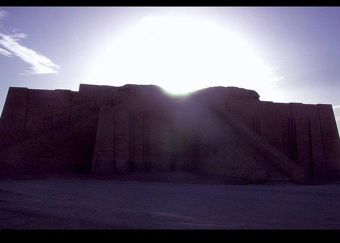 Ur Greeting Card featuring the photograph Ziggurat Of Ur by Eric Nelson