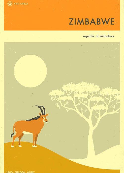 Zimbabwe Digital Art Greeting Cards