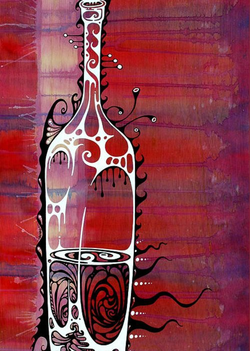 Bottled Paintings Greeting Cards