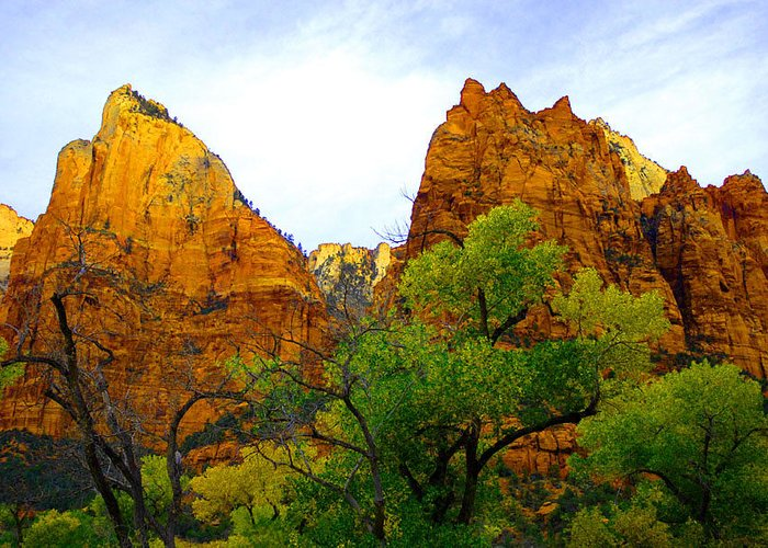 Utah Greeting Card featuring the photograph Zion In Autumn by Dennis Hammer