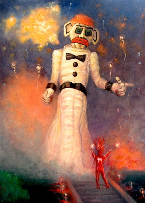 Realism Greeting Card featuring the painting Zo-zobra by Donelli DiMaria