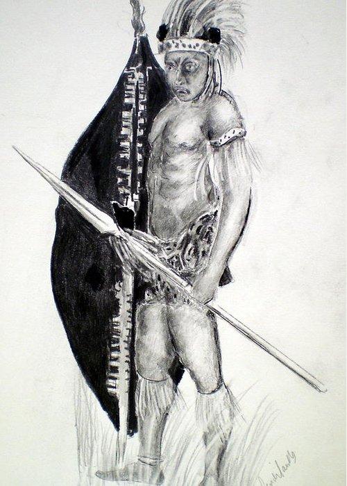 Zulu Greeting Card featuring the painting Zulu Roarkes Drift by Paul Sandilands