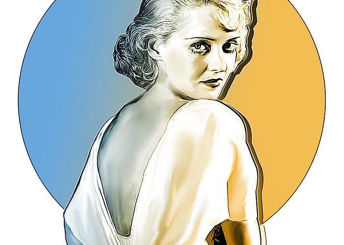 Bette Davis Greeting Card featuring the digital art Bette Davis by Greg Joens