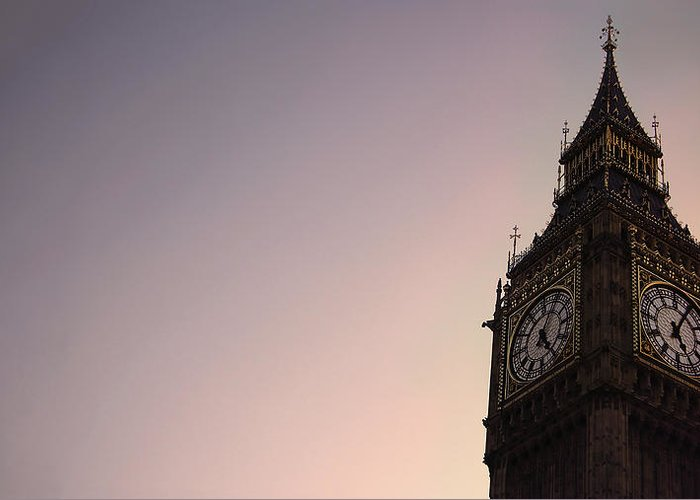 Clock Tower Greeting Card featuring the photograph Big Ben Clock Tower by Sherif A. Wagih (s.wagih@hotmail.com)