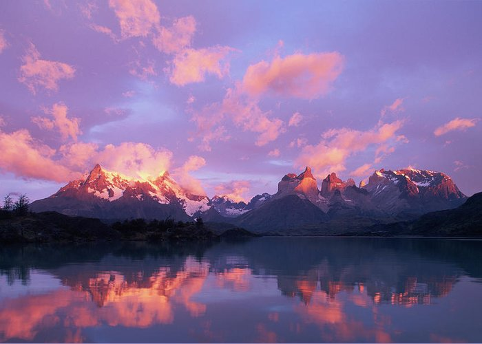 Scenics Greeting Card featuring the photograph Chile, Patagonia, Torres Del Paine Np by Paul Souders