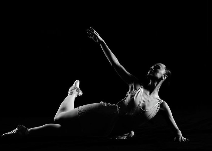 Expertise Greeting Card featuring the photograph Classical Dancer by Oleg66